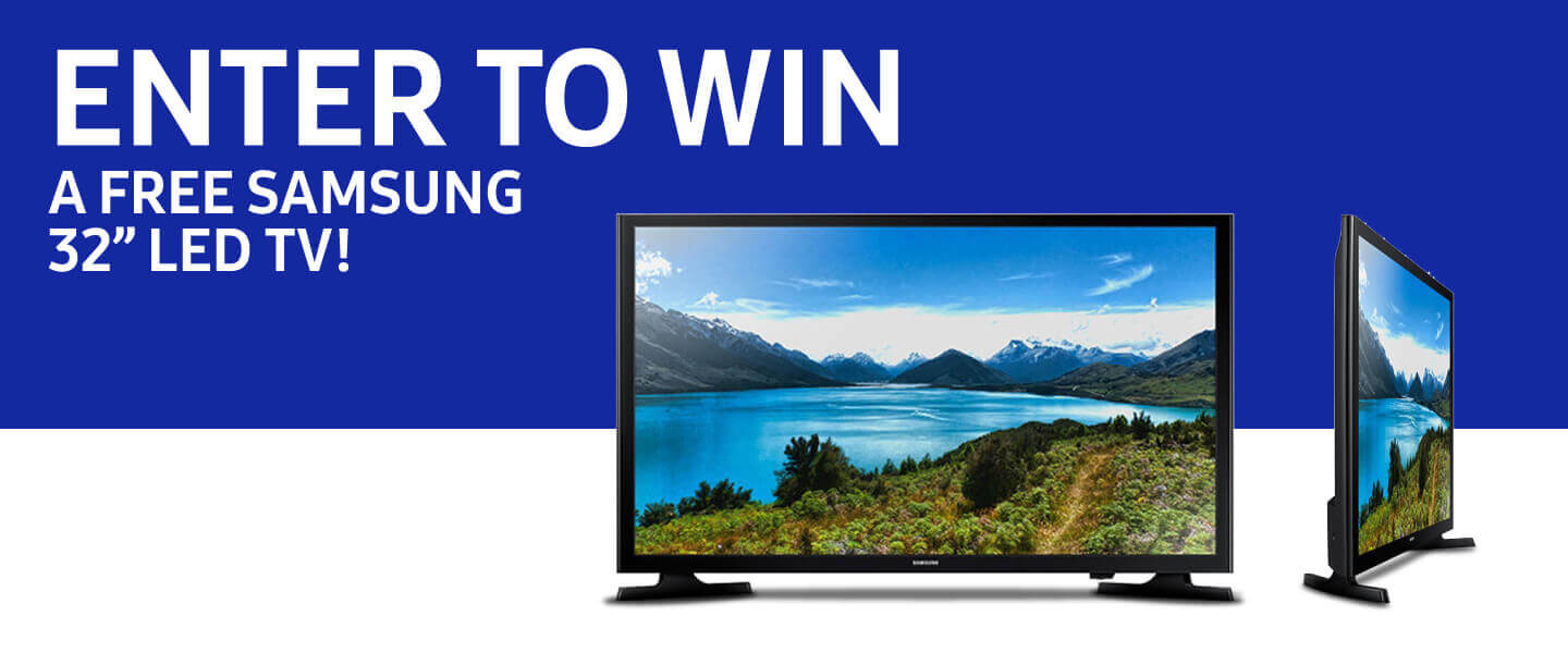 Enter to win a free Samsung TV!